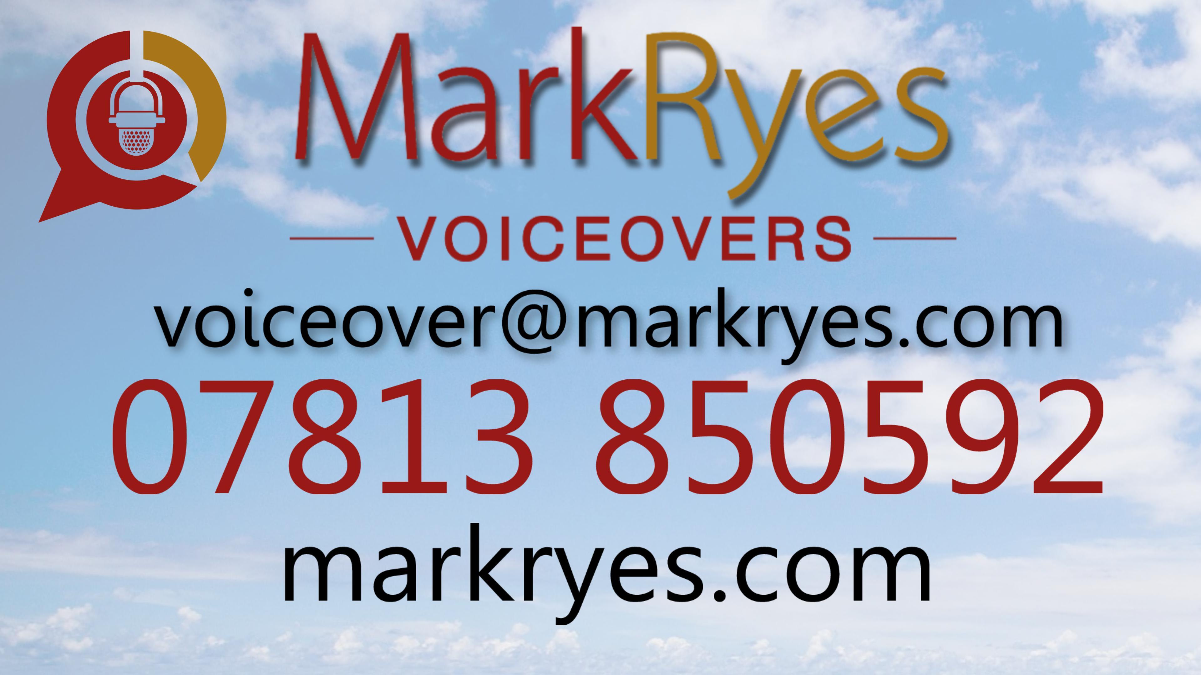 British RP Voiceover Mark Ryes